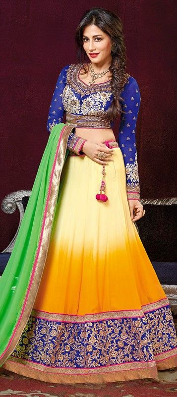 157396: Go #Ombre with this actress of Bollywood - CHITRANGDA SINGH #Lehenga #Bride #Bollywood #IndianWedding #ChitrangdaSingh #onlineshopping #indianfashion #skirt #bridalwear #springsummer2015