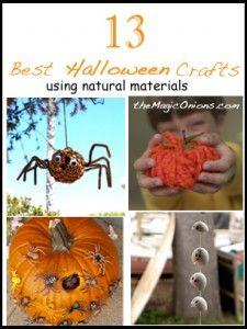 13 Halloween Crafts using natural materials