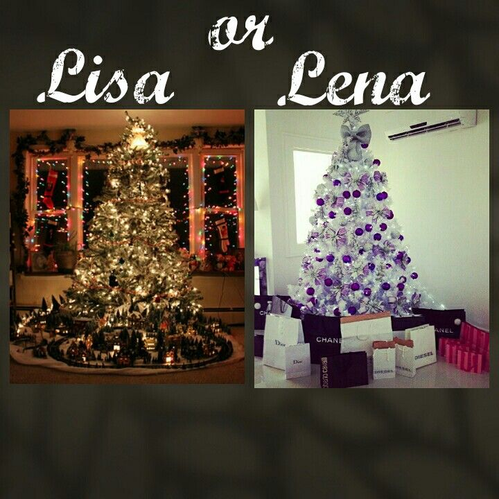 Lisa or Lena? Theme: Christmas three @Anjalie❤