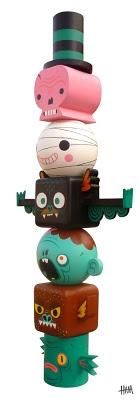 """Gary Ham. Art Toy design. """"Toytem of terror"""". http://haminals.blogspot.com/"""