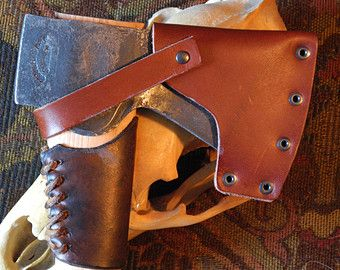Leather Axe Handle Guard Collar Guard for Gransfors by MuleLeather