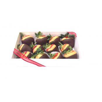 #bowmanvilleflowers #valentinesday #giftideas #love #chocolatecoveredstrawberries  Nutty Butter Berries - 12 Box | Bowmanville, Courtice, Newcastle, Oshawa, Whitby Flower Delivery