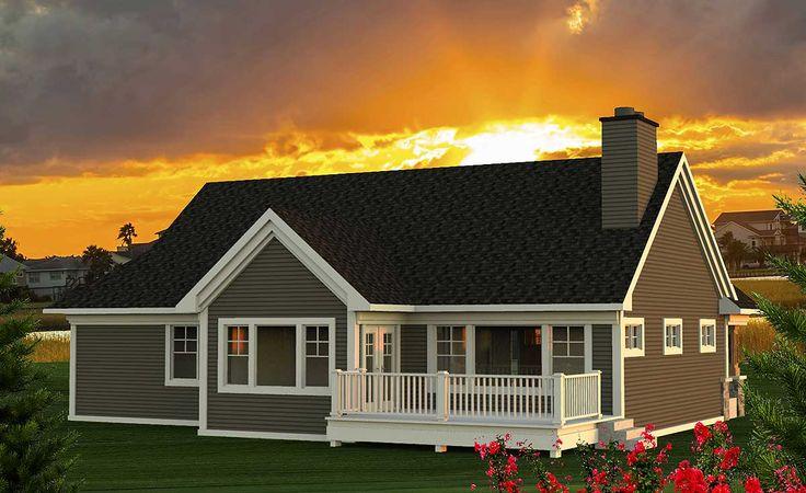 Plan 89954AH: 2 Bed Craftsman Ranch Home Plan