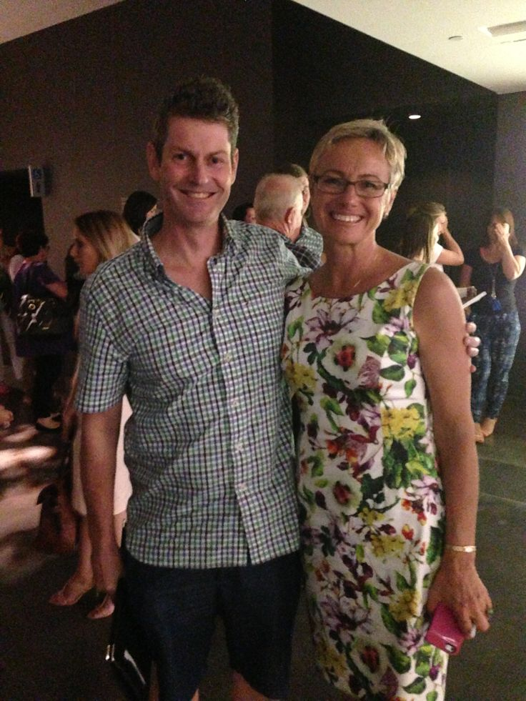 Cyndi O'Meara as guest speaker at the Wellness Warrior event 2014. Great to meet her finally after all the years of following her work. Health Celebrities with Cameron Corish.