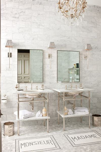 FRENCH STYLE MARBLE BATHROOM | MONSIEUR + MADAME