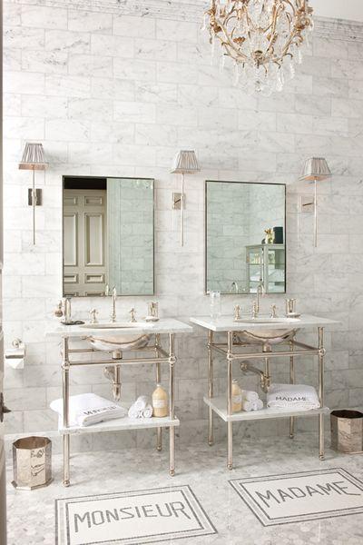 Accesorios De Baño Maestro:His and Her Bathroom Sinks