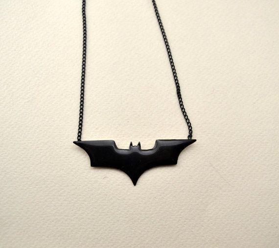 batman necklace/batman pendant/batarang by AbyCraft on Etsy