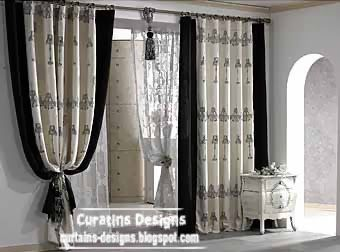 Doorway curtains: doorway curtain design with vertical stripes
