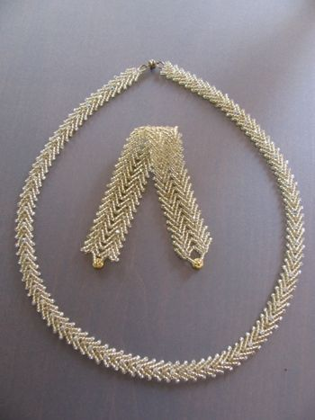 seed beads and Swarovski necklace and bracelet