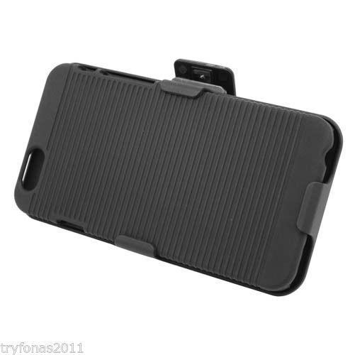 Black Shell Holster Combo Case Cover Belt Clip Slim Design For iPhone 6 Plus 5.5 #UnbrandedGeneric