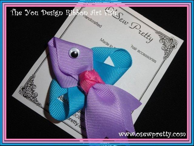 You choose the colors to design this ribbon art hair bow from o sew pretty