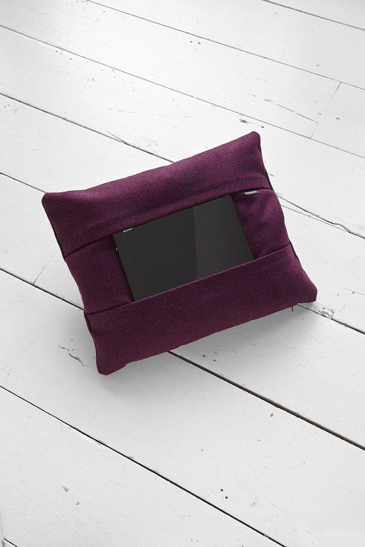 coqoon tablet pillow, Kvadrat Divina Melange 2 - 671 (Purple) coqoon.com
