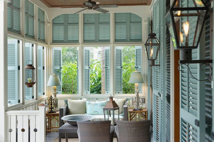 Located near Bluffton, South Carolina, the cottage at Palmetto Bluff was decorated by Ruthie Edwards out of Hilton Head, SC,