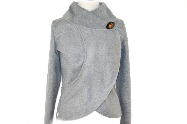 Fleece Bolerojacke, Grau meliert Gr.XS-L von Rosenrot Modedesign  auf DaWanda.com