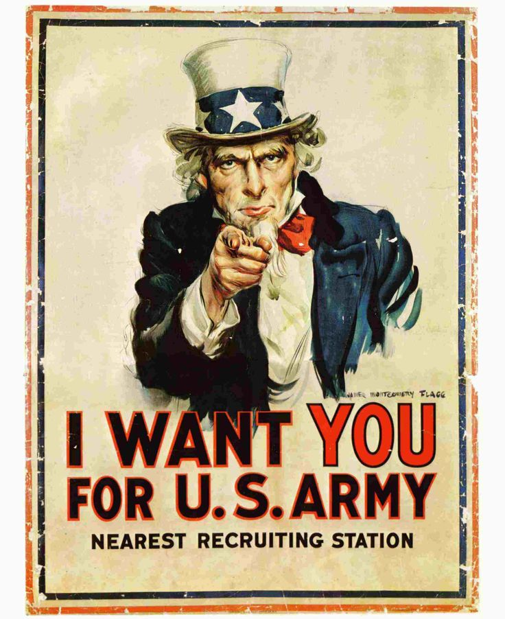 Cartel de reclutamiento militar (1917) - James Montgomery Flagg. (ícono de la comuncación)