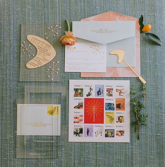 MCM wedding stationary