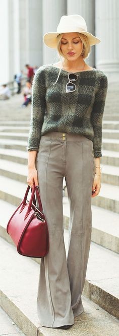 wide-legged trousers in neutral