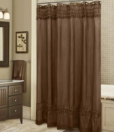tan and light brown shower curtains - Google Search