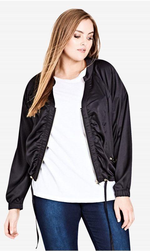 Shop Women's Plus Size Silky Jungle Heat Jacket - Jackets | City Chic USA