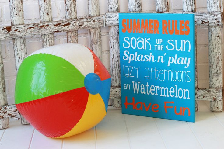 Summer signs - Front porch sign - Front porch decor- summer rules - Personalized si by OutTheDoorDecor on Etsy https://www.etsy.com/listing/508460024/summer-signs-front-porch-sign-front