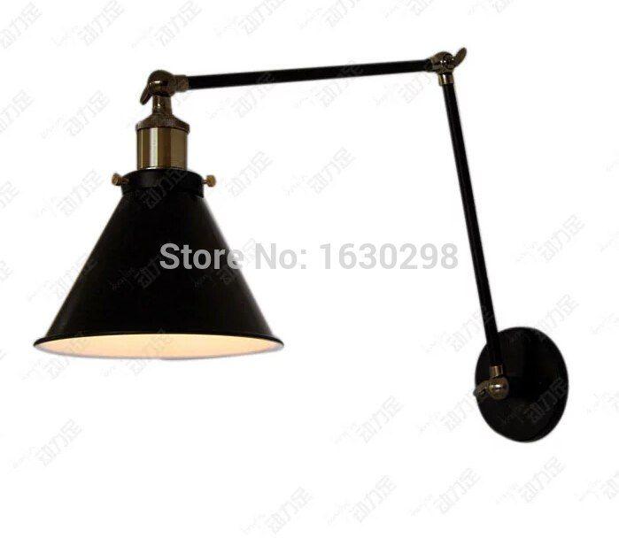 Tienda Online Vintage Swing Brazo Apliques Largos Rojos De Pared Lampara Loft Industrial Iluminacion De Pared Lamparas De Pared Apliques De Pared Industriales