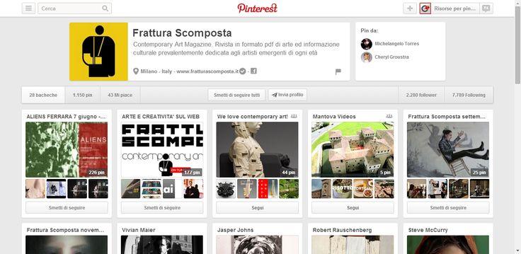 Frattura Scomposta Profile on Pinterest. Frattura Scomposta is a contemporary art magazine.