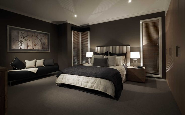 black dark feature wall bedroom sexy elegant sleek | bedroom