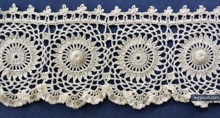 Crochet Antique Style Edging: Diagram + step by step instructions