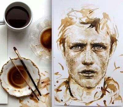 47 best images about coffee painting on pinterest stains for Painting with coffee