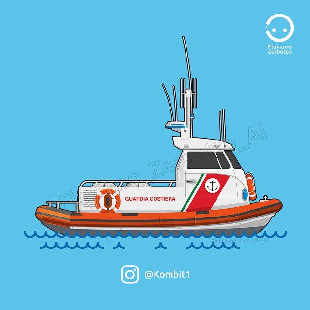 KombiT1: Guardia Costiera Special VW T1 Flat Design