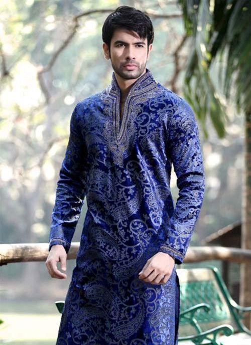 Shame my bf didnt want to keep this.. GORGEOUS ROYAL BLUE VELVET SHERWANI...