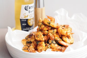 These spicy prawns, a few beers and good friends will make for a relaxed summer Sunday!  http://www.taste.com.au/recipes/19979/barbecued+piri+piri+prawns