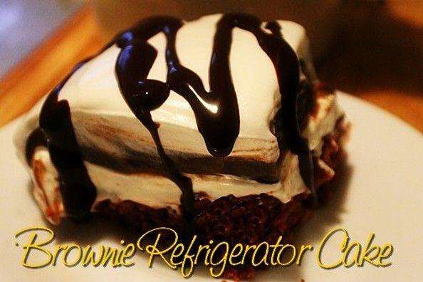 Refriderator Brownie Cake