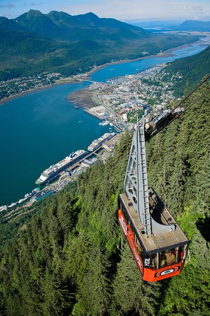 Juneau, Alaska | Set your sights on Alaskan wilderness on the Mt. Roberts Tramway, where you can see the wonders of the Chilkat Mountains, Stephens Passage, Douglas Island, and Silver Bow Basin from 1,800 feet above the earth.