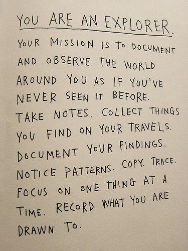 You are an explorer.