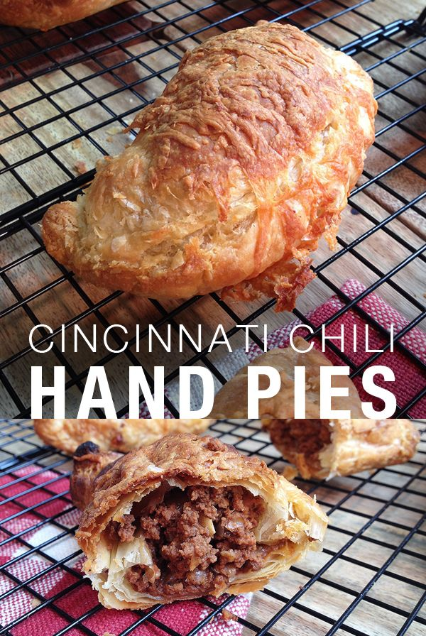 Cincinnati Chili Hand Pies - Cincinnati style chili made in a slowcooker