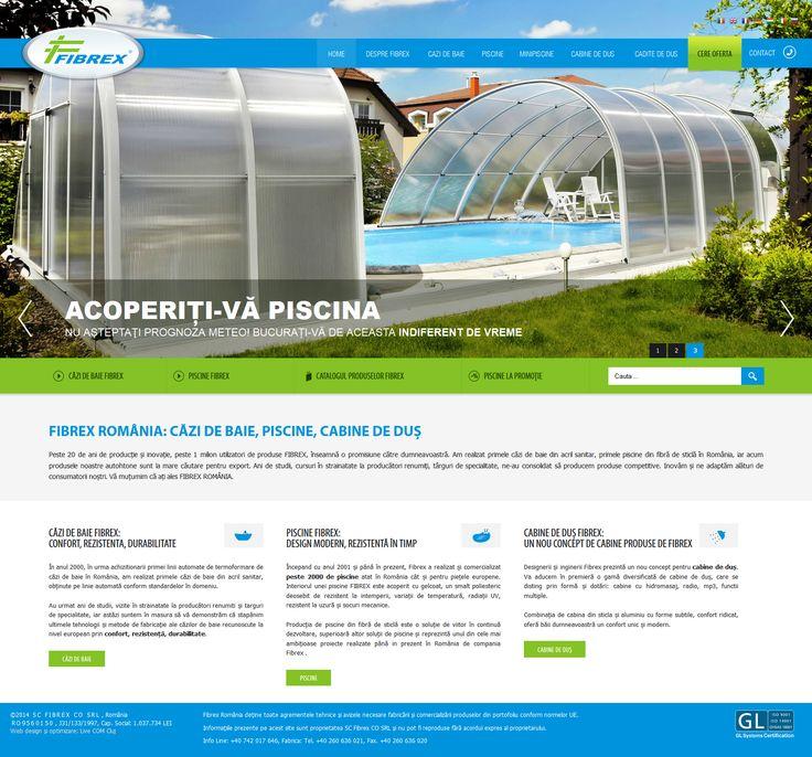 Fibrex România, web design & development