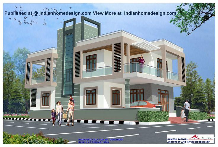 Exterior house designs for indian homes Home decor ideas
