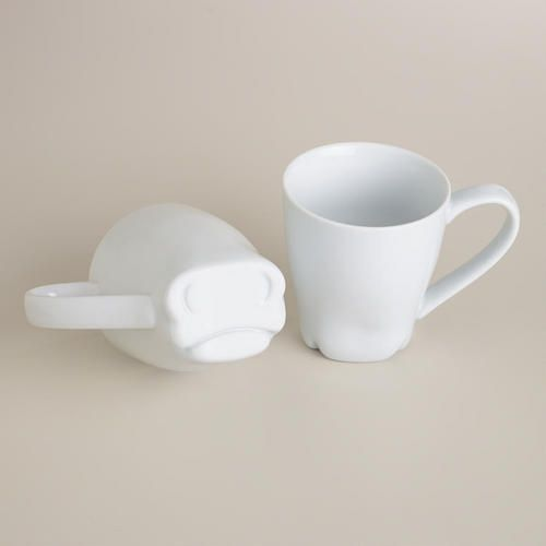 Drink from our whimsical Cow Mug to become one with nature. The bottom of this porcelain mug is cleverly designed like a cow's cute face, making it a great gift for animal lovers.