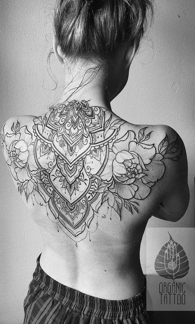 Hand Mandala Tattoo Mandalatattoo Back Tattoo Women