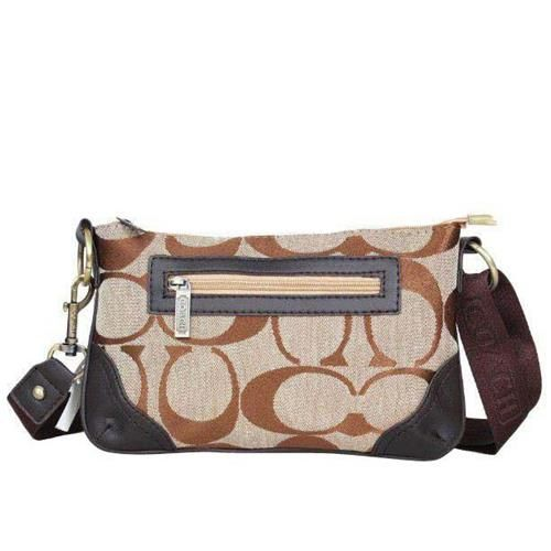 Look Here! Coach Swingpack Monogram Small Khaki Crossbody Bags DPQ Outlet Online