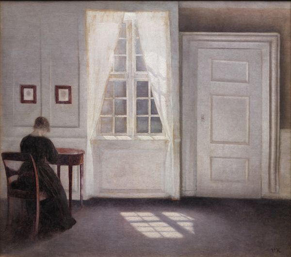 Vilhelm Hammershøi (1864-1916), 'Interior in Strandgade, Sunlight on the Floor', 1901. KMS3696