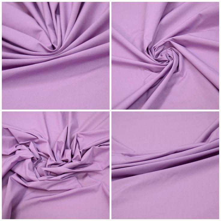 Блузочная ткань  арт. 12-003-2780 Ширина: 144 см, плотность: 115 г/м2 Цвет: Сиреневый Состав ткани: 100% хлопок Блузочная ткань сиреневого цвета, неэластичная, держит форму. Подойдет для блузок, платьев, юбок. #блузочная#сиреневый#хлопок#плательная#юбочная#tutti-tessuti