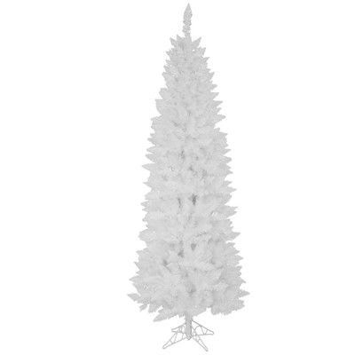 Vickerman Sparkle White Spruce 5' White Spruce Artificial Christmas Tree with 150 White LED Lights with Stand