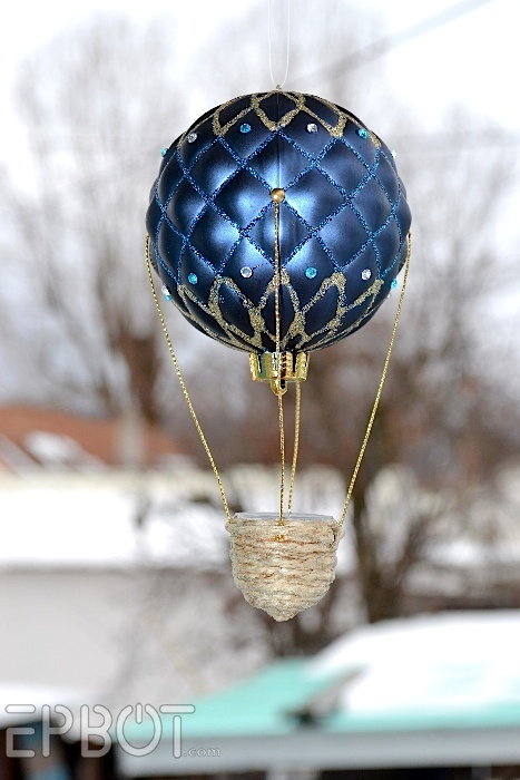 EPBOT: Show & Tell, The Steampunk Edition!    The quilted effect on this ornament makes it a perfect hot air balloon...