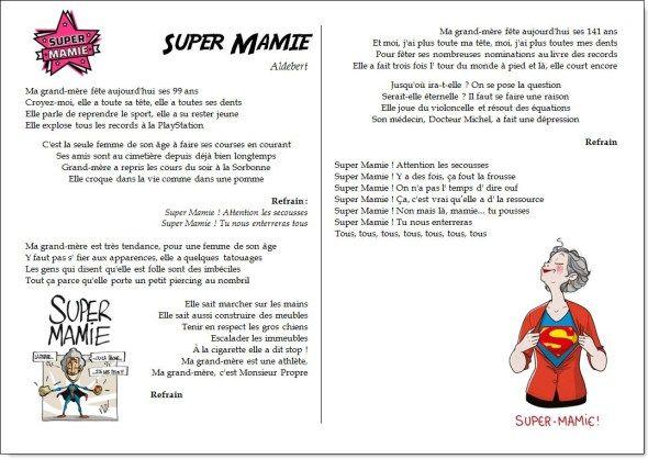 Chant – Super Mamie – Aldebert – la maîtresse a des yeux dans le dos
