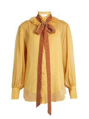 Crinkled-georgette blouse   See By Chloé   MATCHESFASHION.COM UK