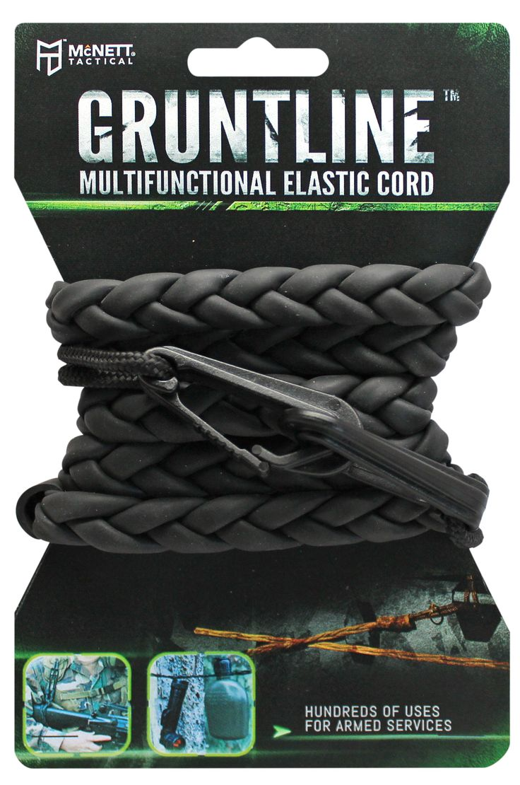 Gruntline™ Multifunctional Elastic Cord—Clothesline, Utility Line, Tie-Down Strap and More - McNett Tactical