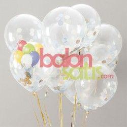Şeffaf Lateks Balon www.balonsatis.com