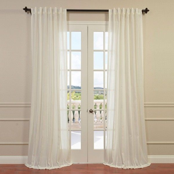 eff aruba sheer curtain 150 liked on polyvore featuring home home decor